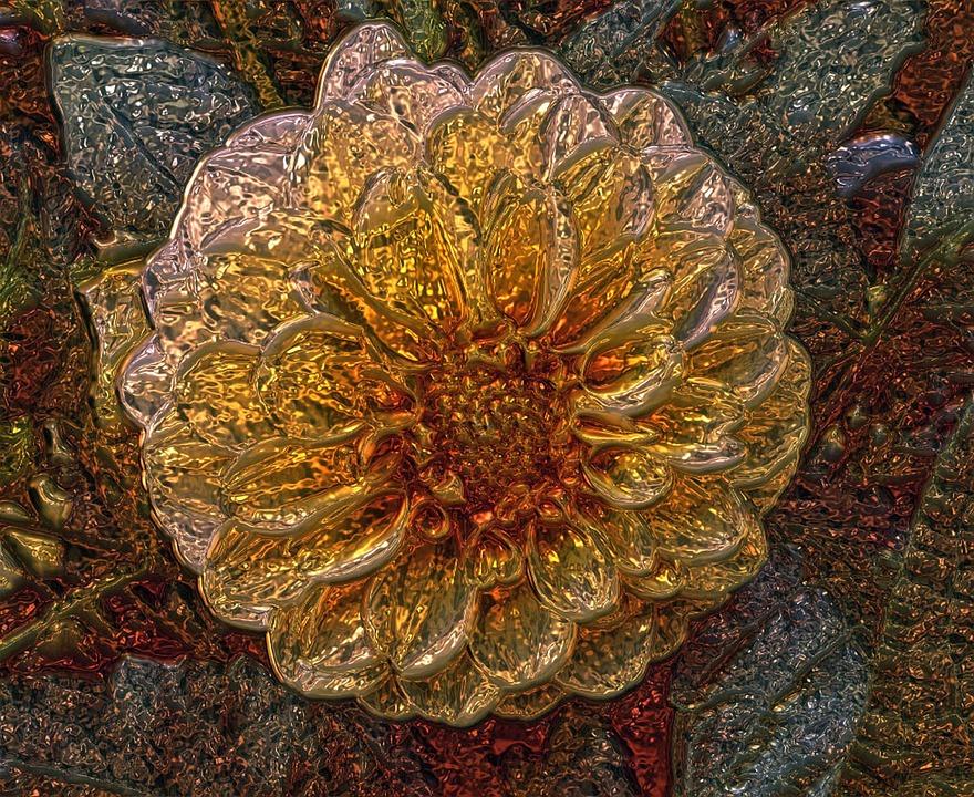 Szklany kwiat